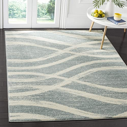 Safavieh Adirondack Collection ADR125T Cream and Slate Modern Area Rug 6 x 9