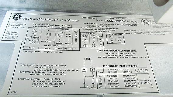 Ge Powermark Gold Load Center Wiring Diagram