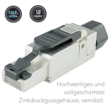Wondrous Aixo Ntec 10 Rj45 Plugs Feldkonfektionierbar Cat 6 A Shielded Rj45 Wiring Cloud Hisonuggs Outletorg