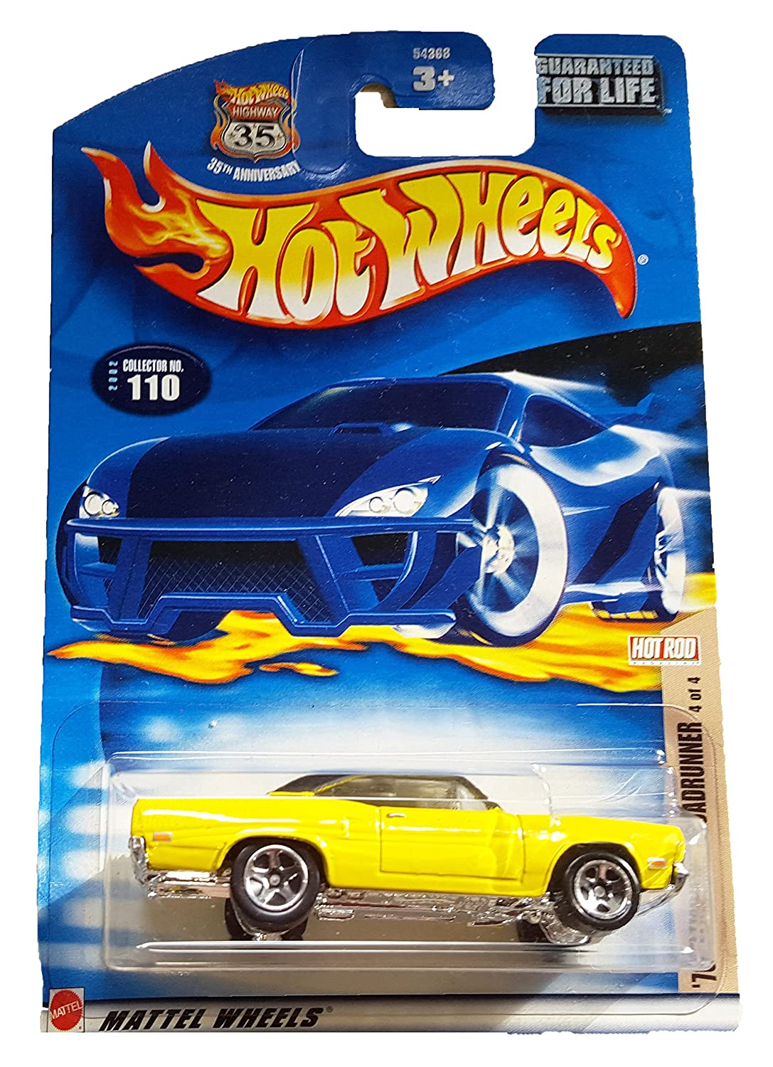 Hot Wheels 2002-110 Hot Rod Magazine Series  4 4 4 1970 Plymouth Roadrunner 1:64 Scale 00f099