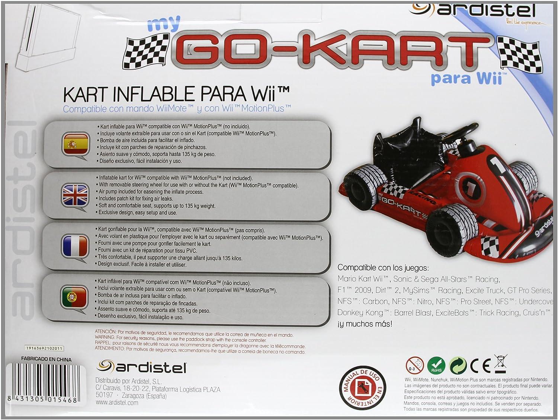 Donkey kong mario kart wii car tuning - Red Inflatable Wii Racing Kart Steering Wheel Amazon Co Uk Pc Video Games