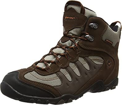 Hi-Tec Mens Sports Penrith Low Waterproof Trail Walking Hiking Shoes Brown