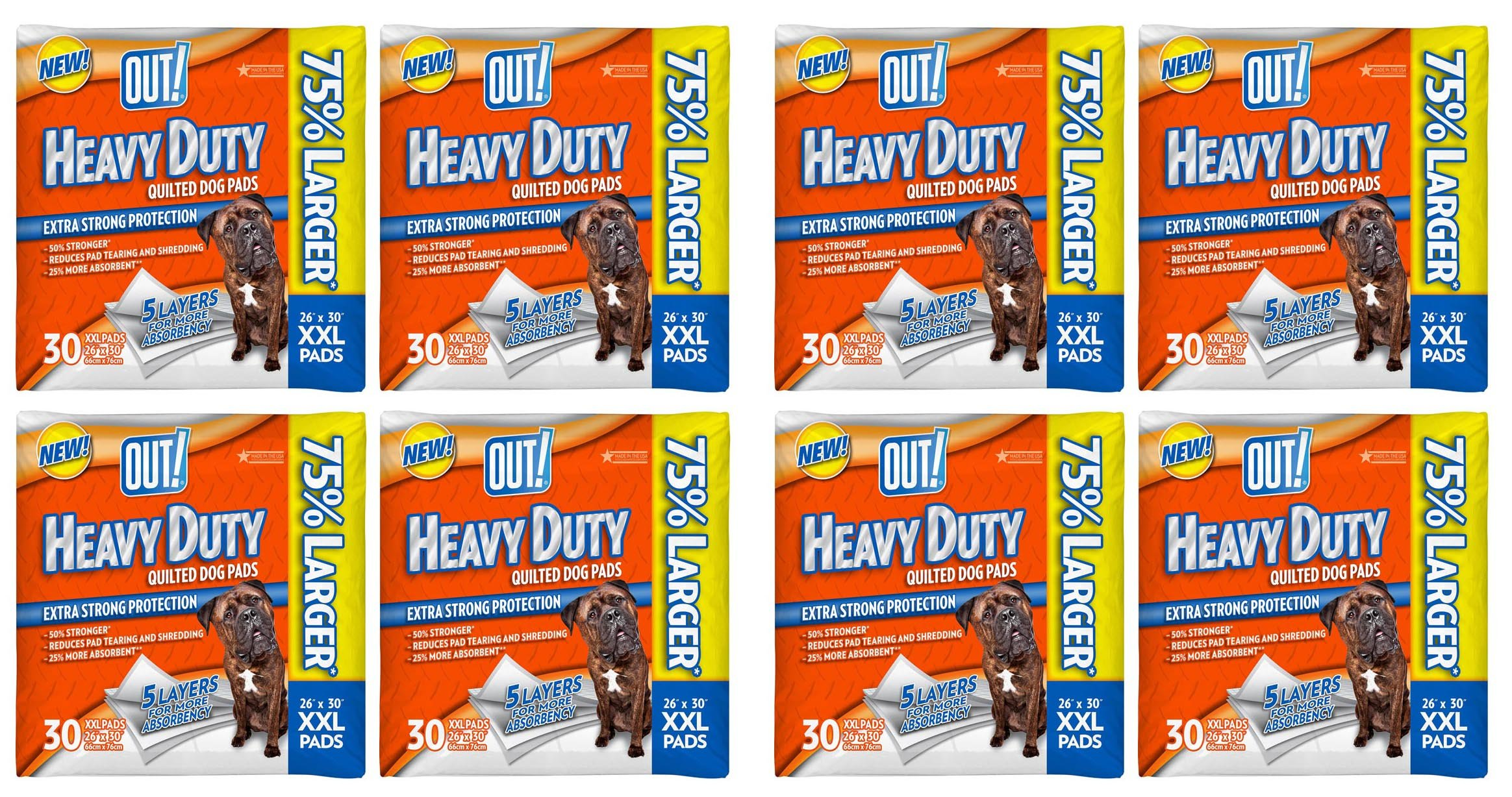 OUT! 30 Count Heavy Duty XX-Large Dog Pads - 8 packs!