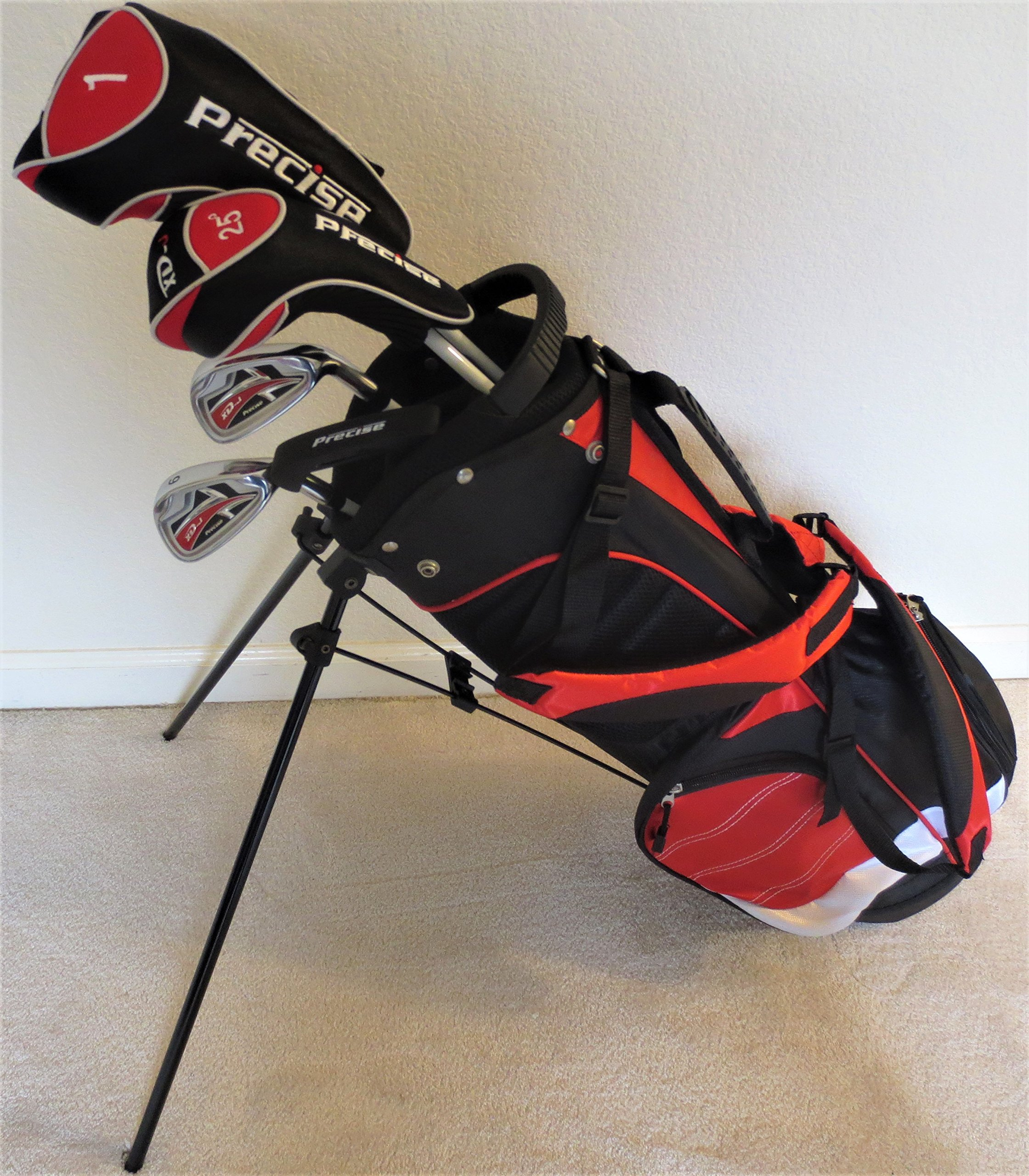Junior Golf Clubs Set with Stand Bag for Kids Ages 5-8 Red Color Jr. Boys or Girls Professional Quality