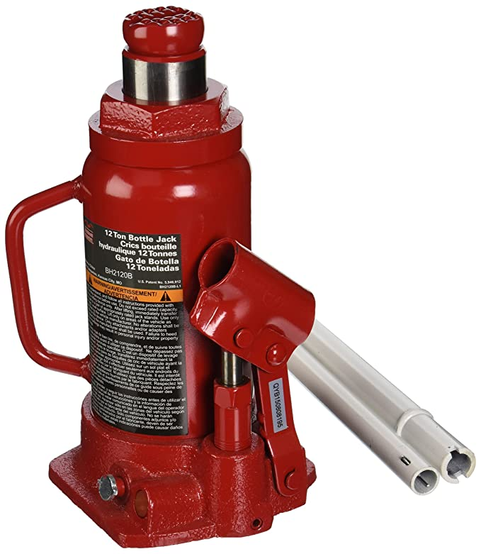 Amazon.com: Blackhawk BH2120B Bottle Jack (12 Ton Hydraulic ...