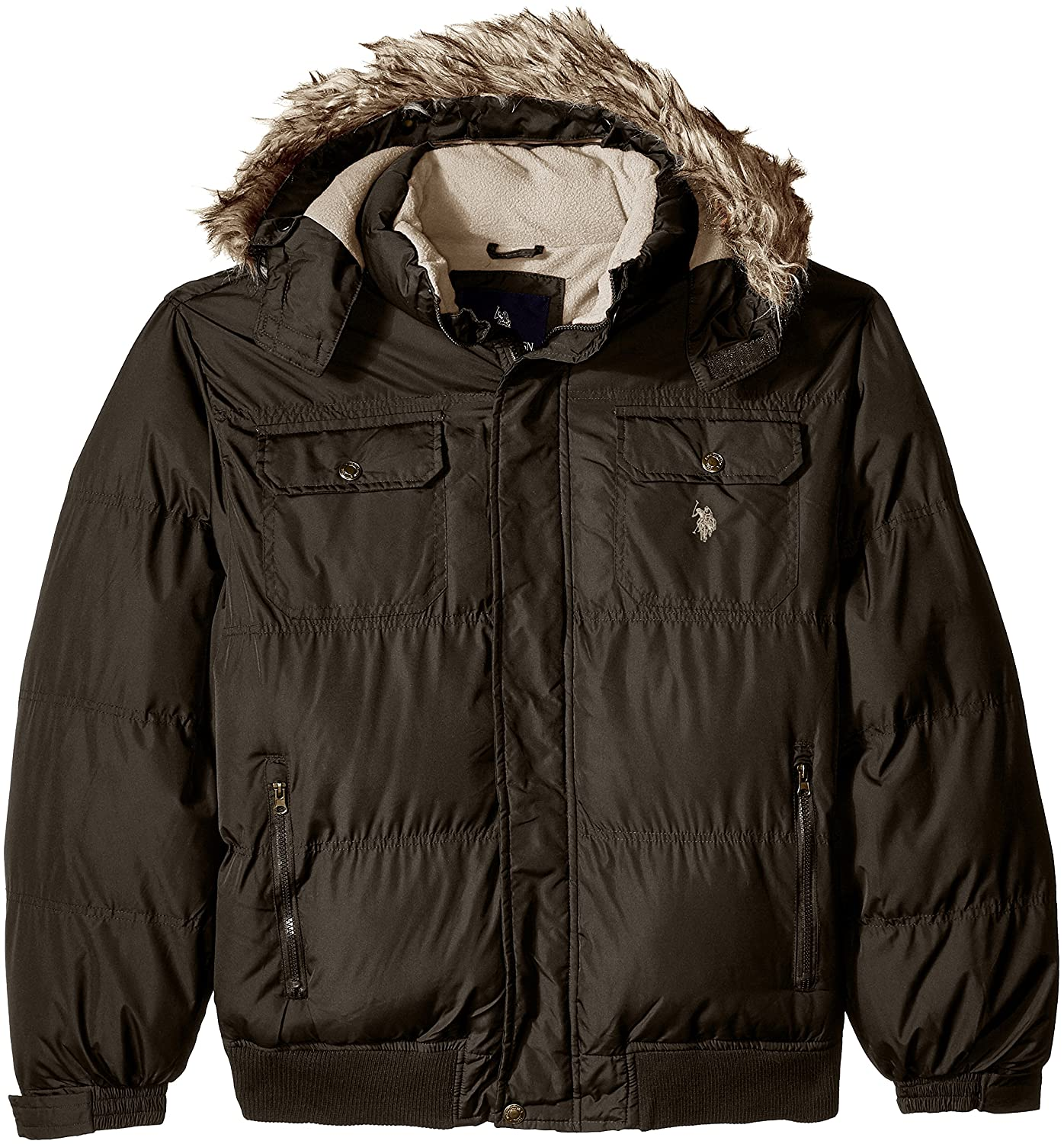 U.S. Polo Assn. OUTERWEAR メンズ B01LCMEHSA 2X|Dark Brown Gjbk Dark Brown Gjbk 2X