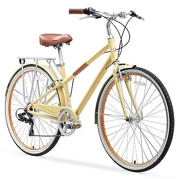 sixthreezero Reach Your Destination Bicicleta híbrida con Soporte ...