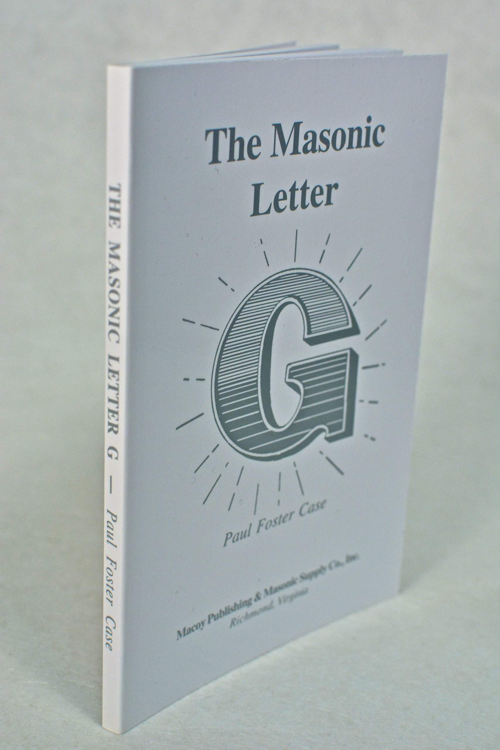 The masonic letter g paul foster case 9780880530668 amazon books thecheapjerseys Image collections