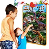 Just Smarty Dinosaur Interactive Learning Poster and Dinosaur Toys for Kids 3-5 with Music, Games and Educational Activities