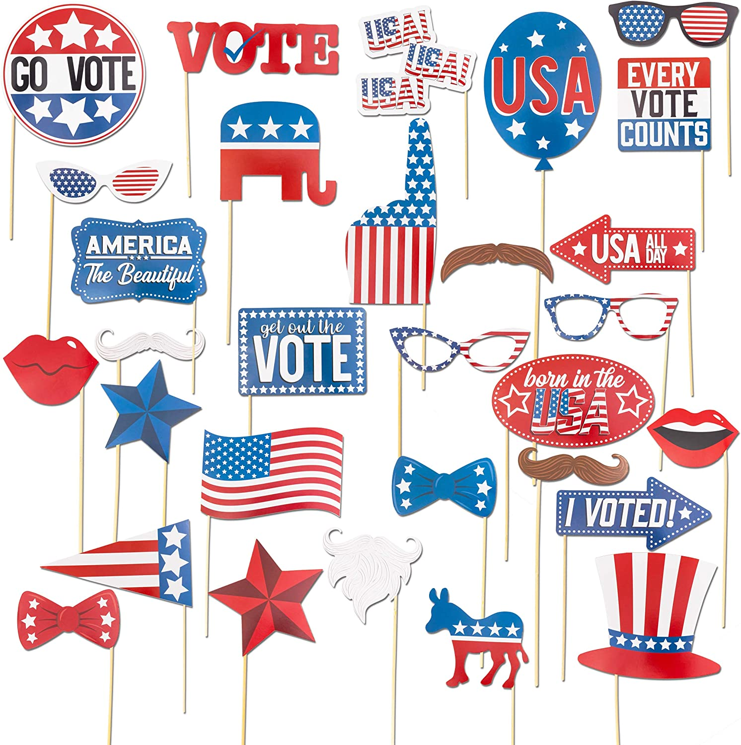 Sparkle and Bash Patriotic Voting Box with Cards for Election Day 8 in