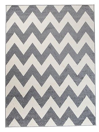 moderner designer teppich zick zack geometrisches muster dichter und dicker flor modern designer muster - Teppich Geometrisches Muster