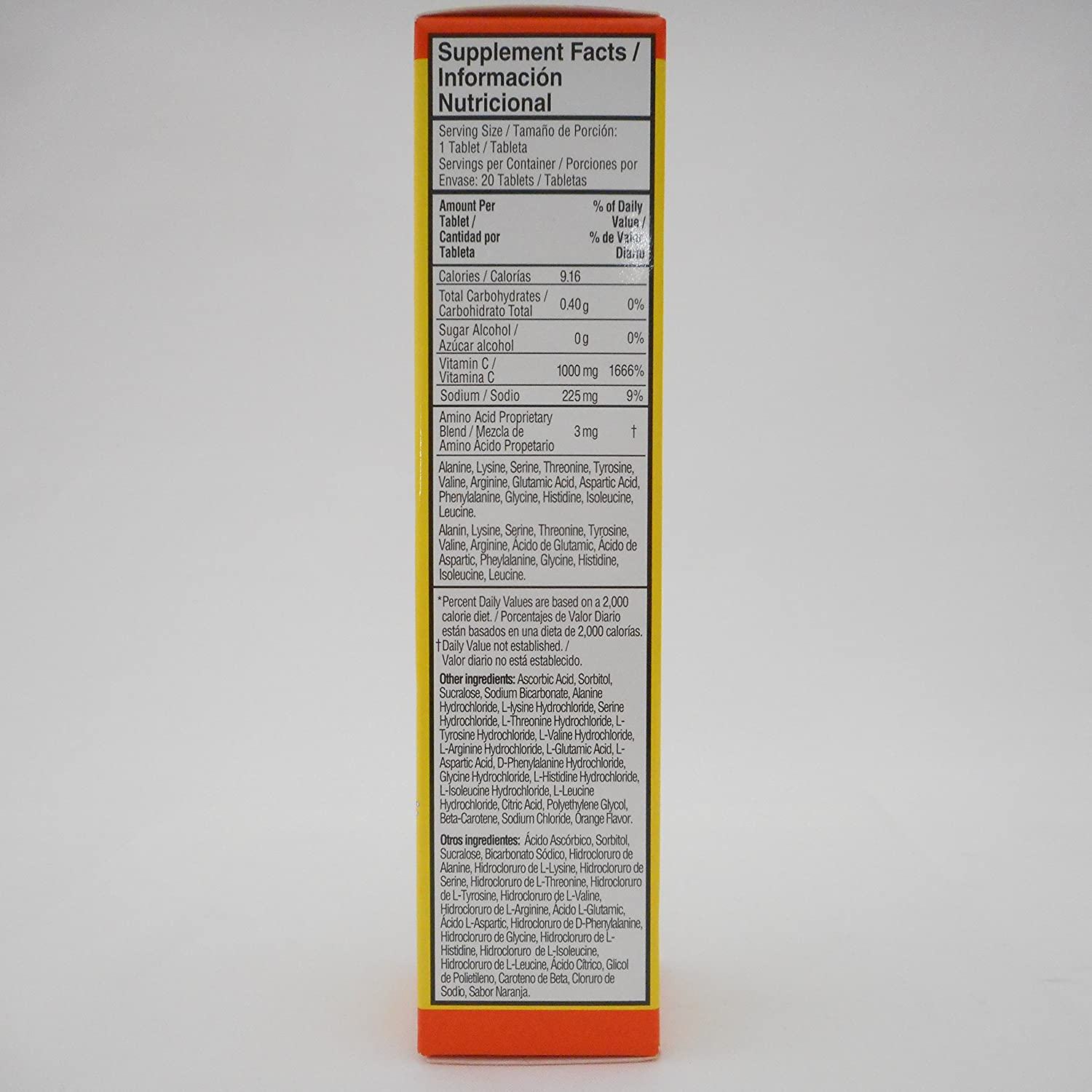 Amazon.com: Midway Redoxon Effervescent Tablets Vitamin C, Orange Flavored 20CT (Pack of 12)
