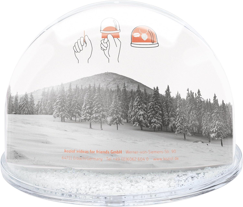 13.8 x 13.8 x 9.8 cm Plastik Koziol HO transparent klar Bildtraumkugel Jumbo
