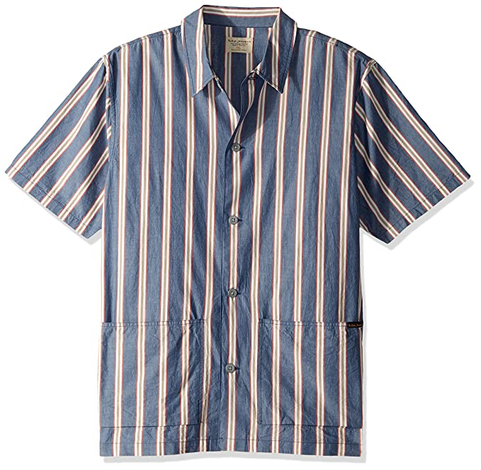 1d0ab440ee Amazon.com  Nudie Jeans Men s Svante Cuban Stripe  Clothing