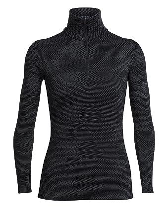 412042ccbeeed Icebreaker Women's Vertex Bodyfit Flurry Long Sleeve Half Zip Top - Black/Jet  Heather,