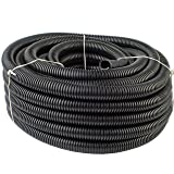 "10 Feet Ft. 1/2"" 13mm Black Split Loom Conduit"