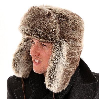 b334fbffebf fur trapper hat Adult Unisex Fake Warm   snuggly  Amazon.co.uk  Clothing