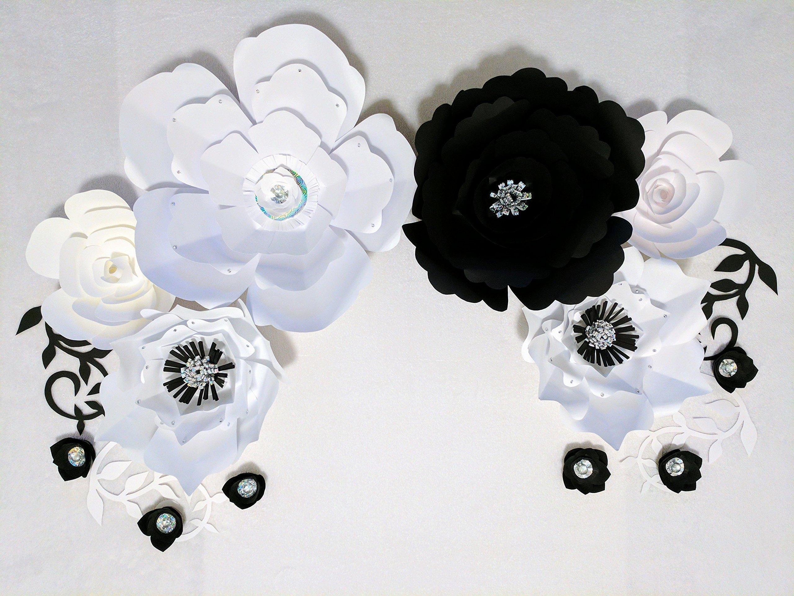 Paper-Flowers-for-Backdrops-Includes-12-Paper-Flowers-and-4-Paper-Branch-Leaves-Fully-Assembled