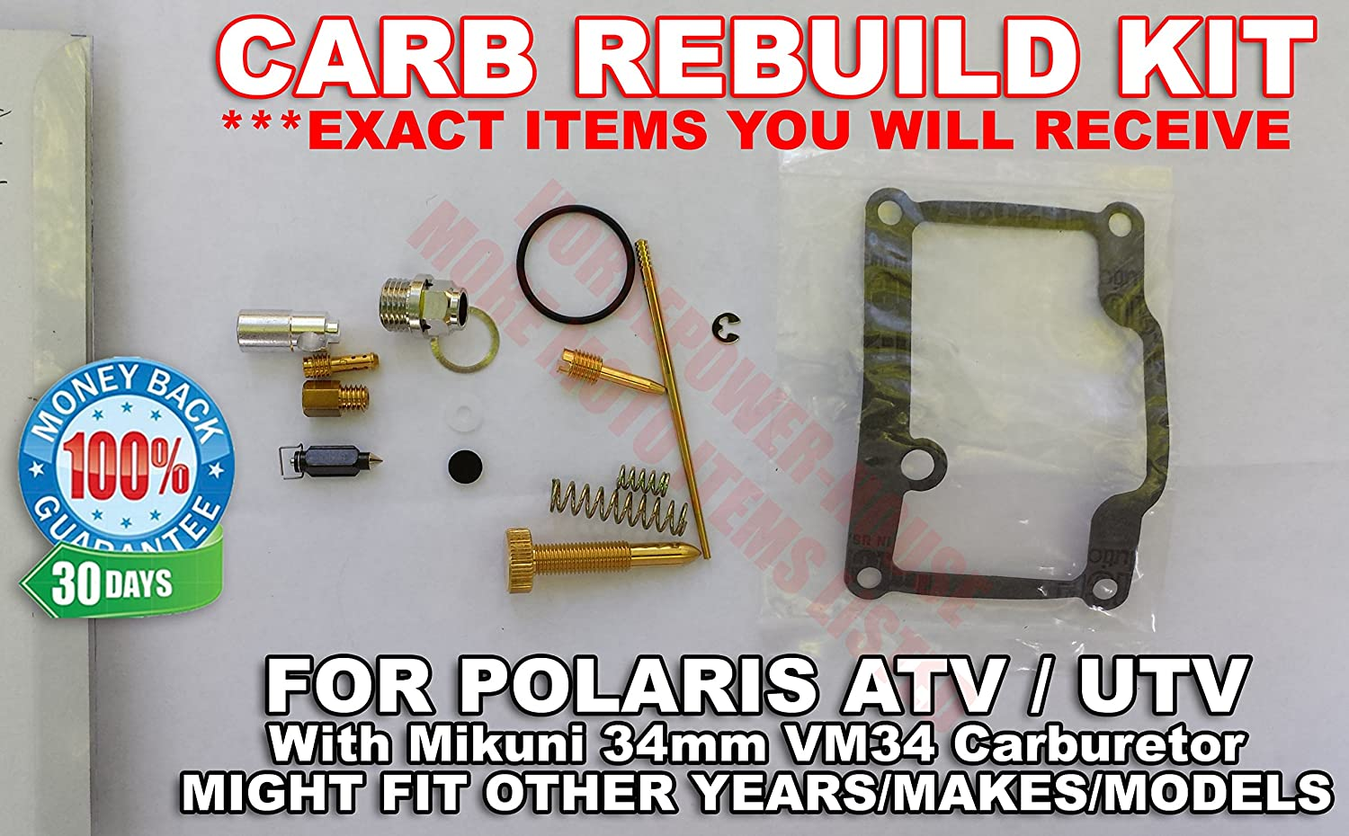 Please Read Ad Carb Carburetor Rebuild Kit For Some 400 Mikuni Diagram Free Download Wiring Schematic Not All 34mm Vm34 Fits Late 90s Polaris 3130710 3130493 On Big Boss