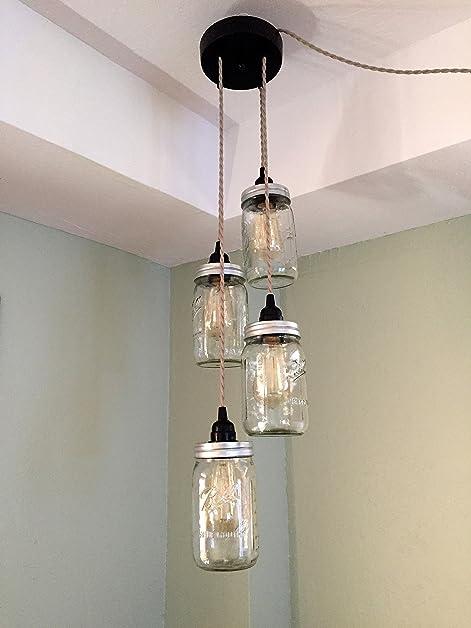 Mason jar chandelier swag light no hard wiring just hang it up mason jar chandelier swag light no hard wiring just hang it up and mozeypictures Gallery