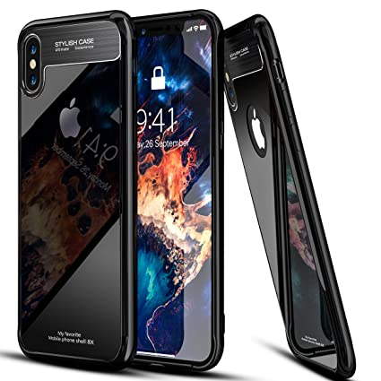 Amazon.com: iPhone X funda espejo de vidrio templado duro ...