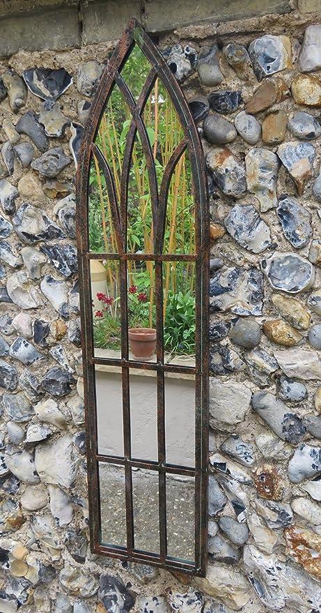 chinor de gótico de jardín espejo con acabado de metal Vintage ...