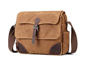 277907793 Image Unavailable. Image not available for. Color: Troop London Heritage  Canvas Leather Small Messenger Bag ...