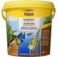 sera 00190 vipan (2 kg) 10 l het klassieke hoofdvoer voor alle siervissen in het aquarium, vlokkenvoer met prebiotica…