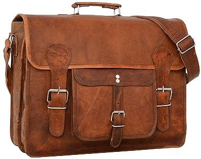 """64a3f39673 Cartable en cuir - Gusti Cuir nature """"Leon"""" sac à bandoulière vintage sac  ordinateur"""
