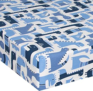 product image for Glenna Jean Crib Fitted Sheet, Dino Baby, Blue, Mini