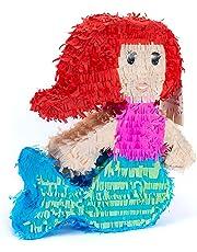 Trendario Pinata Meerjungfrau - 45 x 40 cm - Ideal zum Befüllen mit Süßigkeiten und Geschenken - Piñata für Kindergeburtstag Spiel, Geschenkidee, Party, Hochzeit