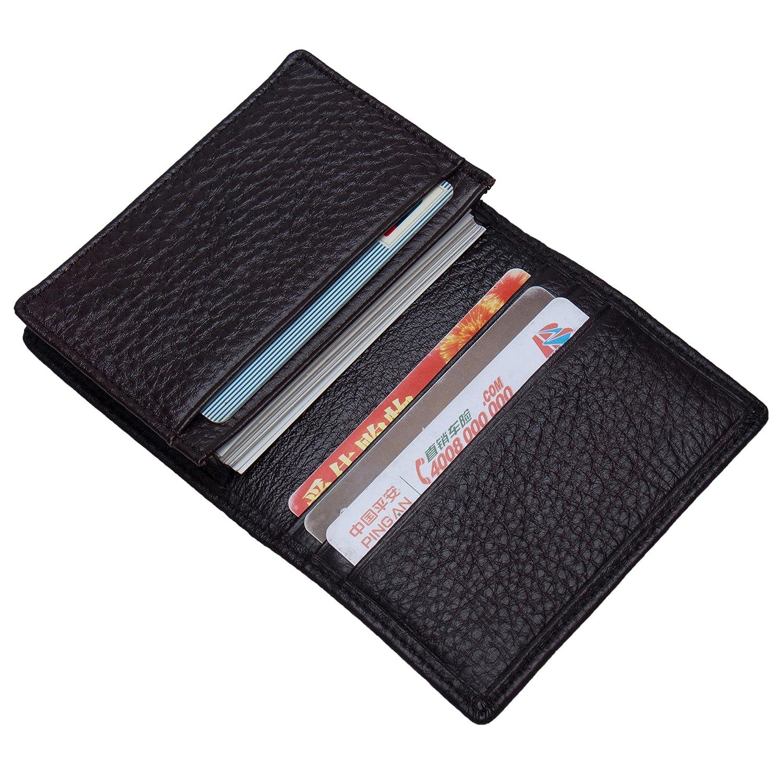 ZONGSHU Business Card Holder Genuine Leather Name Card Case Credit Card Wallet RFID Blocking