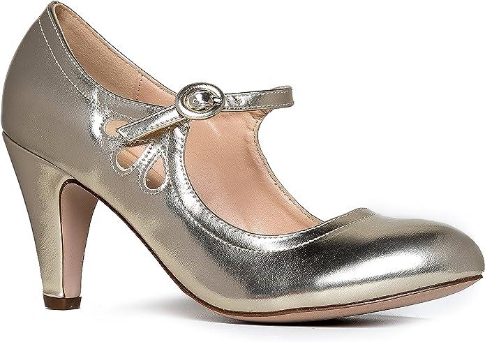 90/'s Tan Mary Jane Heel  Sporty Heel  Size 10