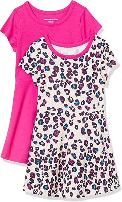 Essentials 2-Pack Girls Short-Sleeve Skater Dress Playwear-Dresses Bambina