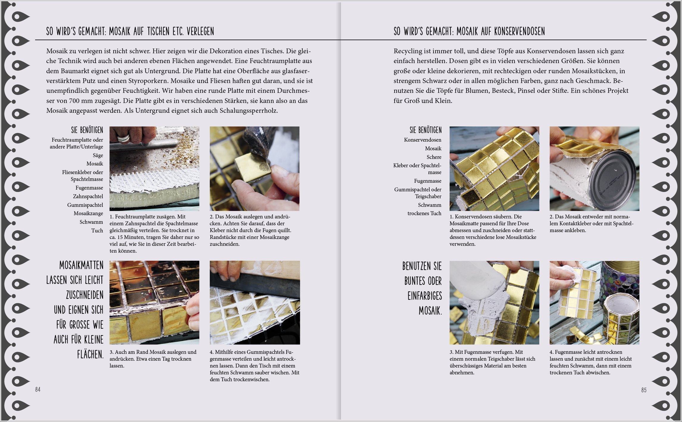 Werken mit Beton & Mosaik: 9783784354446: Amazon.com: Books