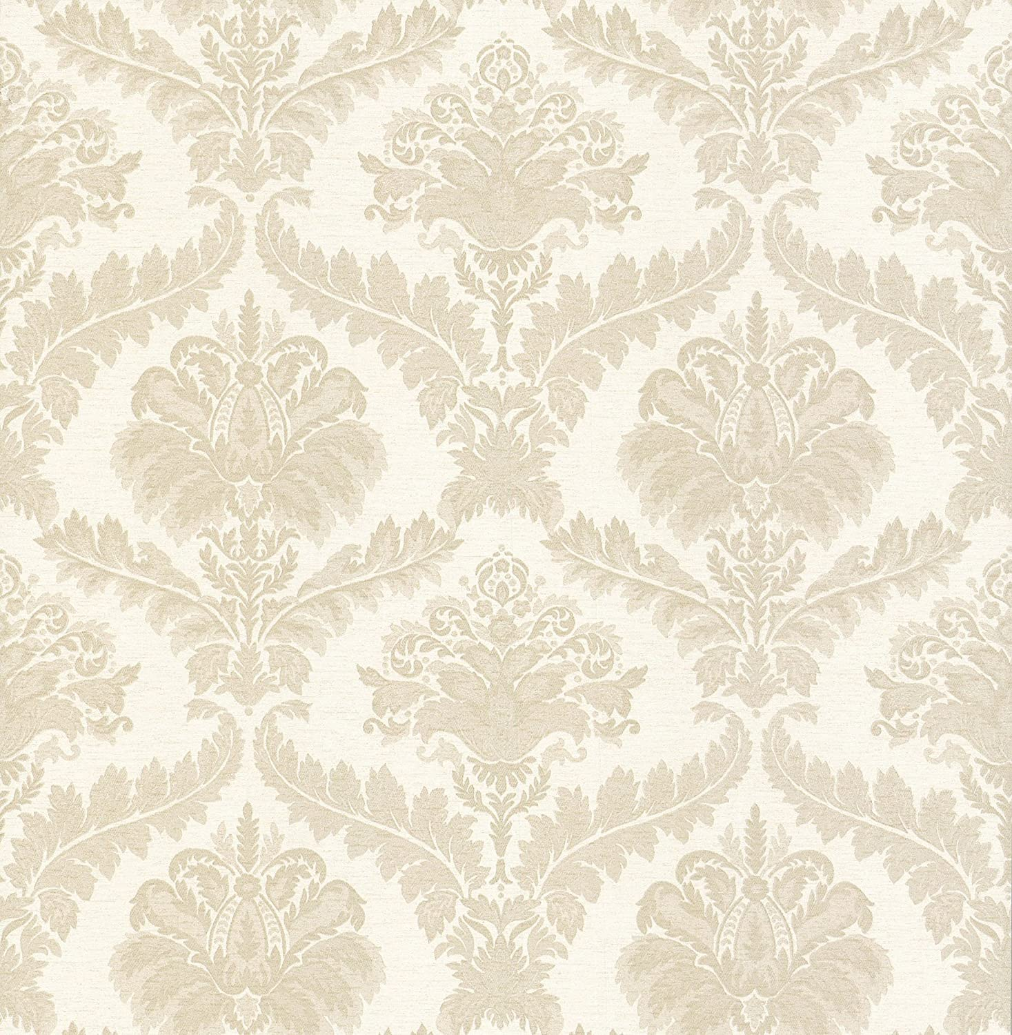 Brewster 429-6797 Scrolls and Damask Wallpaper Cream 20.5-Inch by 396-Inch