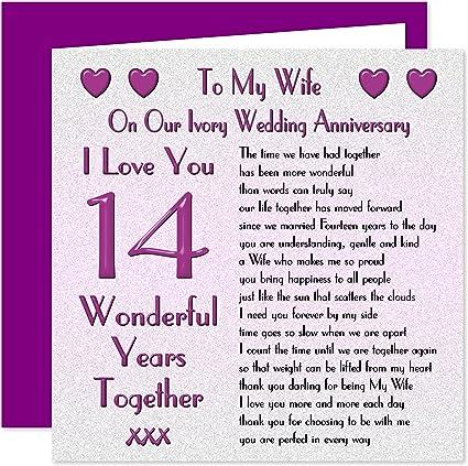14 Anniversario Di Matrimonio.My Wife Il Anniversario Di Matrimonio On Our Anniversary
