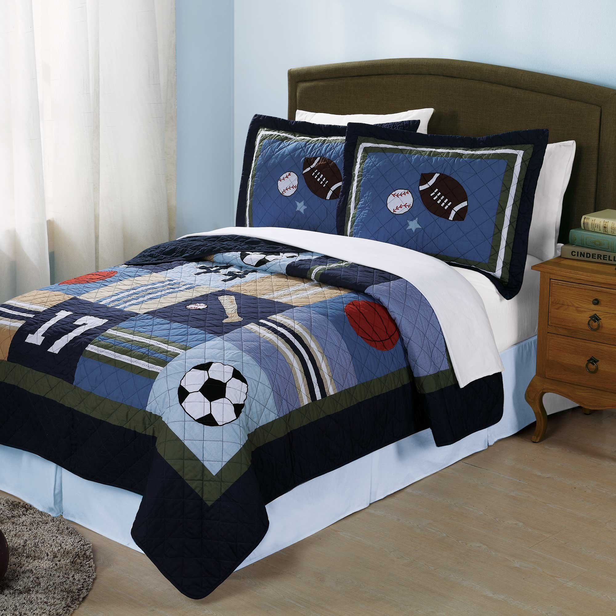 All State Twin Quilt & Sham Set by Pem America