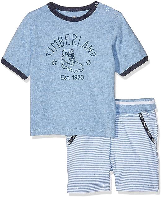 Timberland T98244, Conjunto de Pijama Para Bebés, Multicolor (Unique), 0-