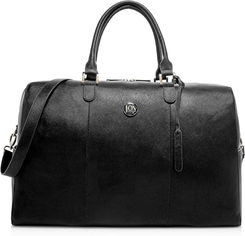 Joy Mangano Women's Jm Metallic Leather Weekender Bag