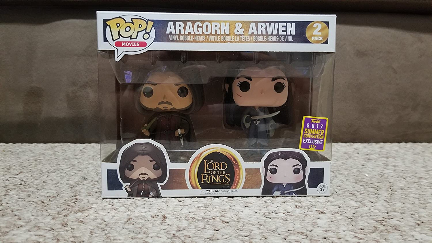 Funko Lord of The Rings-Pack Aragorn & Arwen Figurina, Multicolor ...