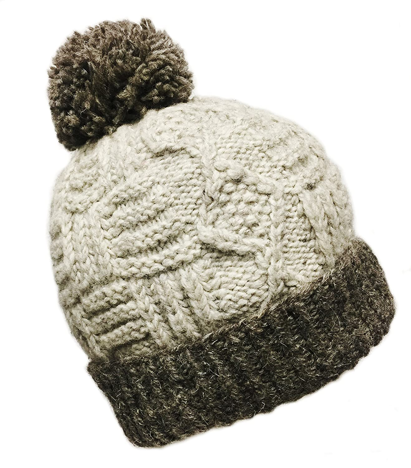 62a847b7305 Amazon.com   Nepal Hand Knit Sherpa Hat with Ear Flaps