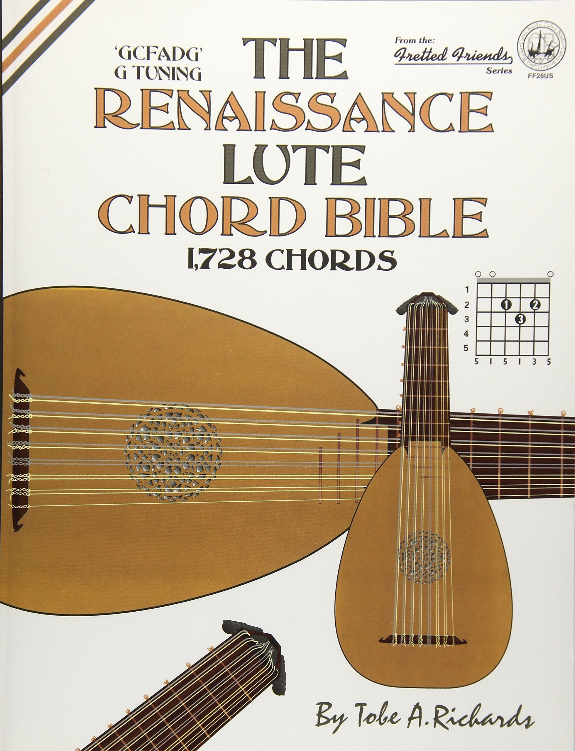 Amazon The Renaissance Lute Chord Bible G Tuning 1728 Chords