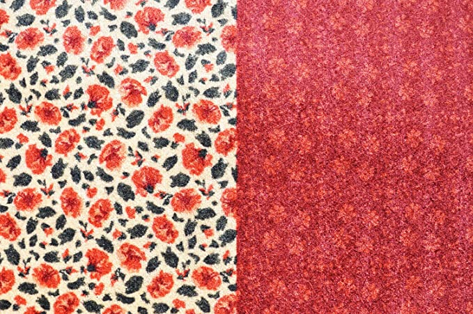 Deco-Mat Antideslizante, Lavable Alfombra de Camino para Entrada de Rango y Exterior 80 x 250 cm, Color Rojo y Verde: Amazon.es: Hogar