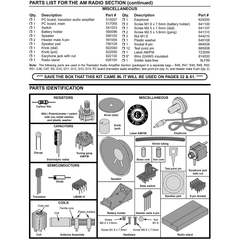 Elenco Am Fm Radio Kit Combines Ics Transistors Printed Circuit Board Connector 32 Pin Solder Eyelet In Mumbai Toys Games