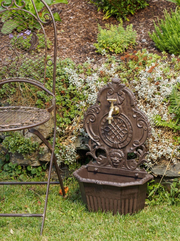 Pozos Fregadero Antes de Aluminio Fuente de 59cm Fuente de Estilo león Jardín: Amazon.es: Jardín