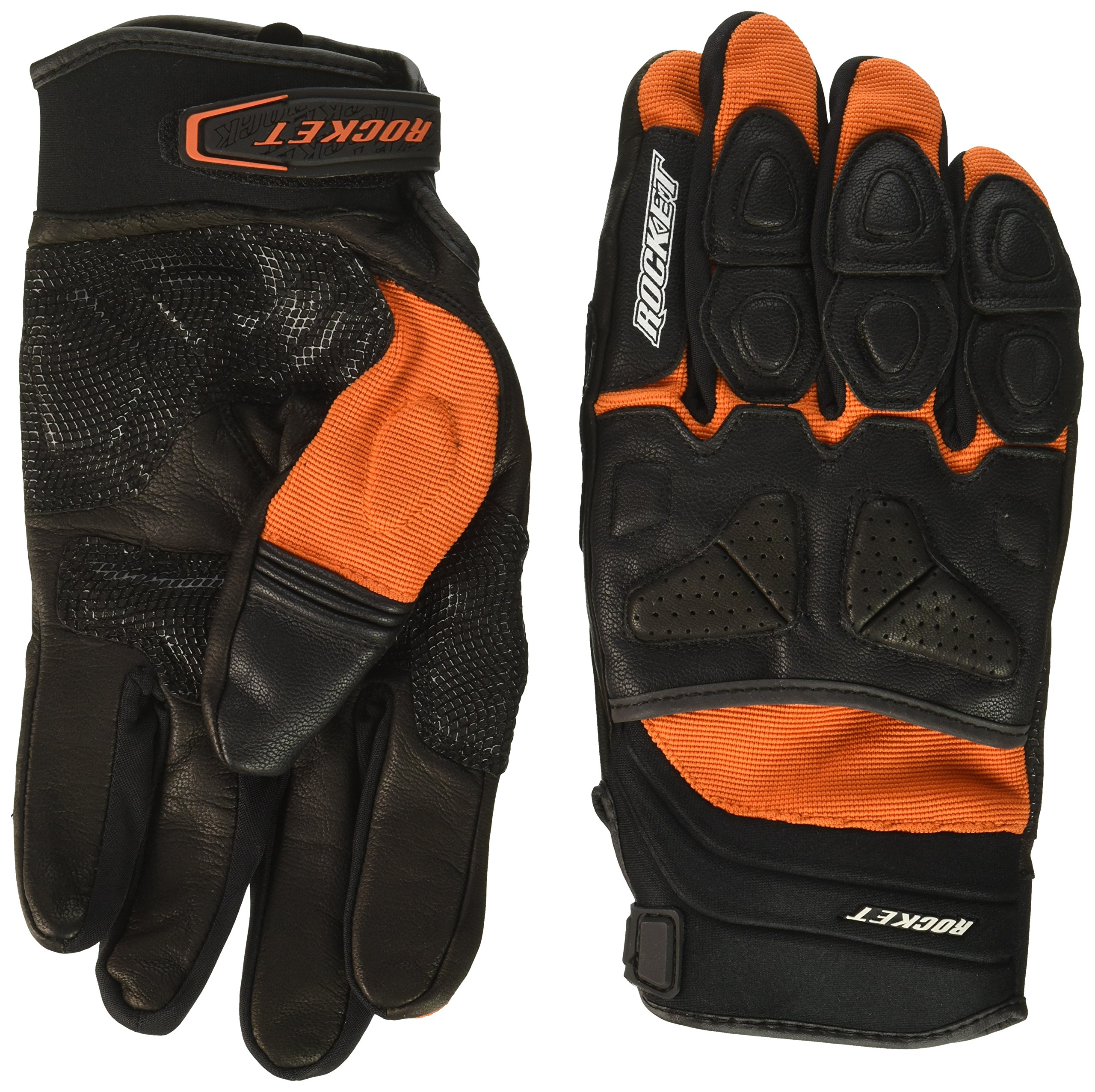 Joe Rocket Men's Atomic X Motorcycle Gloves (Orange/Black, X-Large)