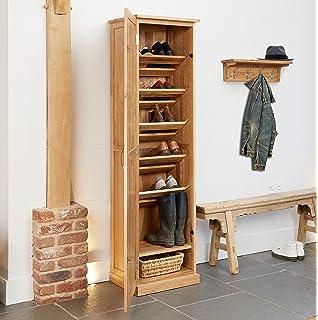 baumhaus mobel oak tall shoe cupboard