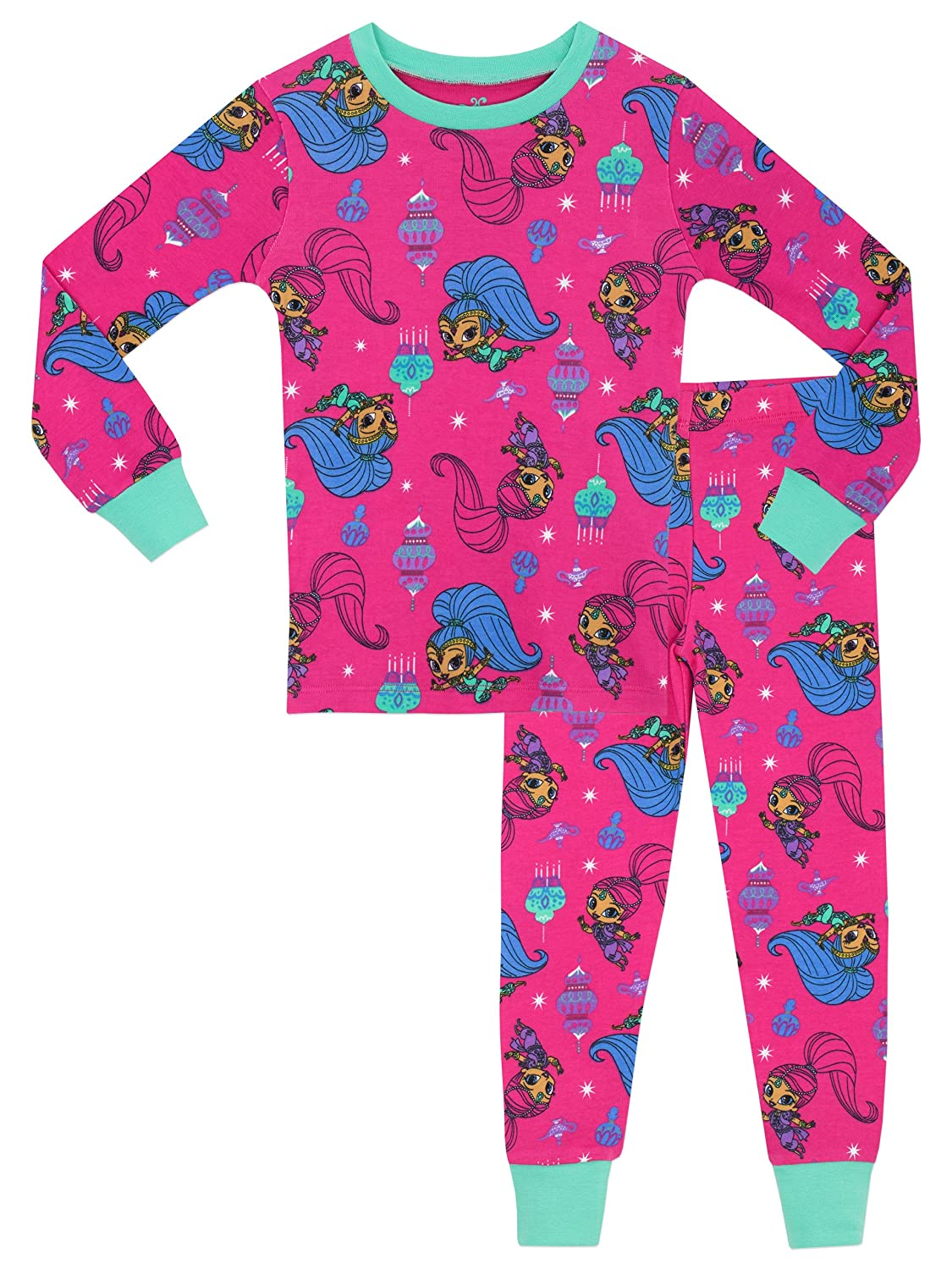 Shimmer & Shine Girls Shimmer and Shine Pyjamas - Snuggle Fit - Ages 2 to 8 Years