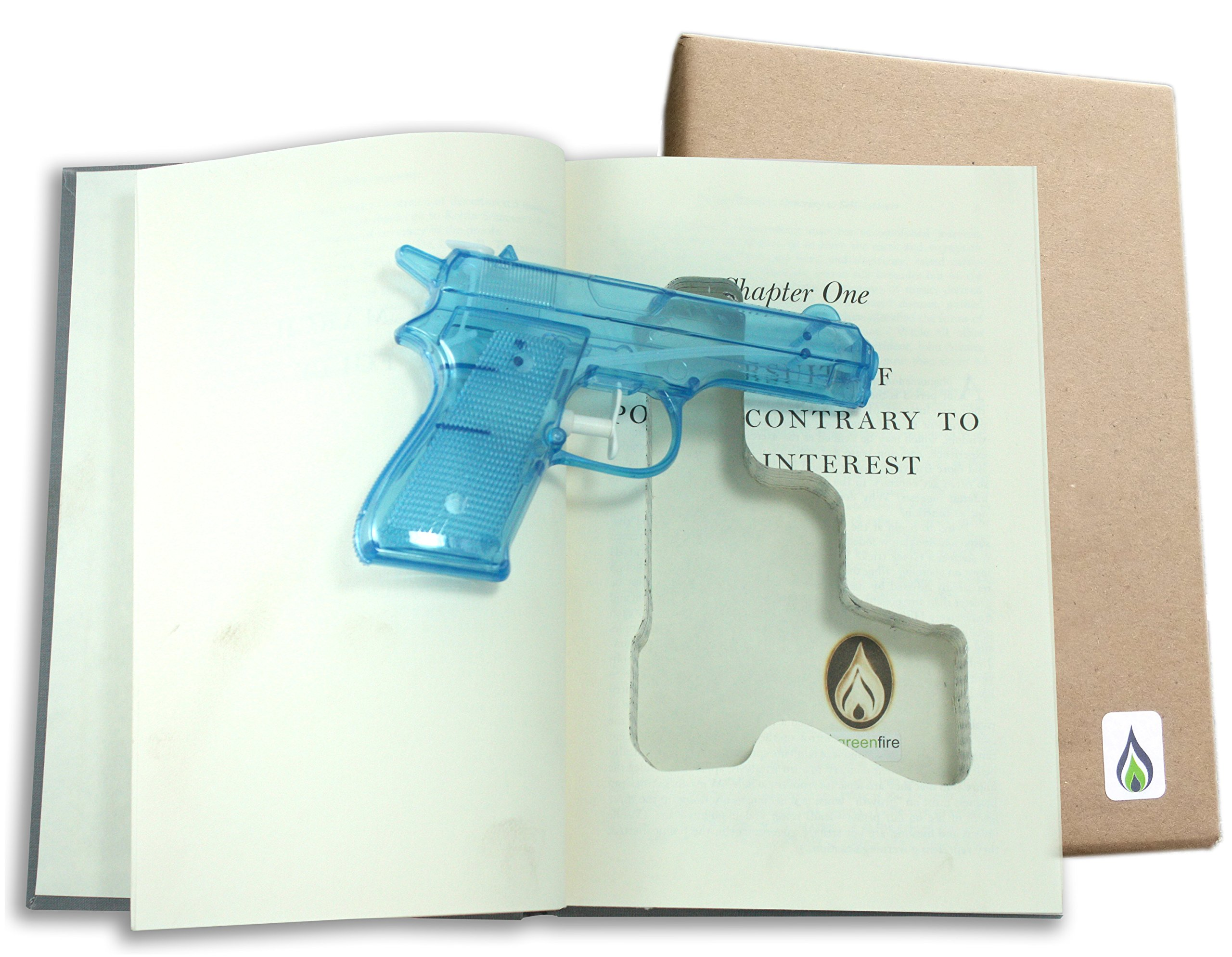 SneakyBooks Recycled Hollow Book Squirt Gun Diversion Safe (squirt gun included) by SneakyBooks